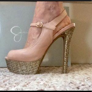 Jessica Simpson platform stilettos